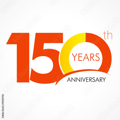 150 years anniversary logo template logo 150th anniversary with a