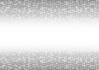 Background of Mosaic Dots in Silver Tones - Holiday Abstract Illustration, Vector