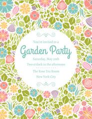Spring Floral Invitation Five