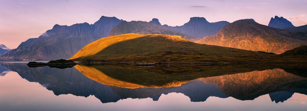 Extraordinary panorama of Lofoten Islands, Norway