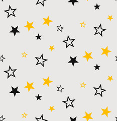 Stars seamless pattern. Vector illustration