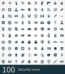 security 100 icons universal set
