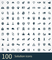 solution 100 icons universal set