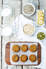 oats pumpkin and sunflower seeds banana cookies. gluten-free