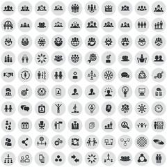 teamwork 100 icons universal set
