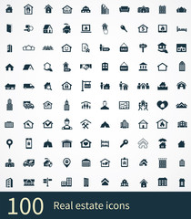 real estate 100 icons universal set