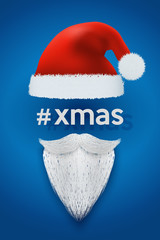 Xmas Background of Santa with space for text