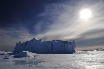 Poster Antarctica Icebergs in Antarctica