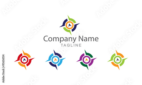 compass logo vector stock image and royalty free vector files on