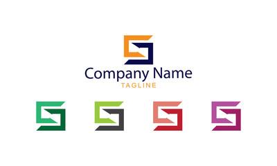 Logo Vector - Square Arrow Letter S
