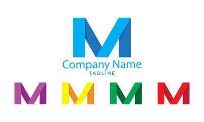 Logo Vector - M Paper Folds