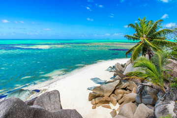 Beautiful beach, Island Praslin - Seychelles