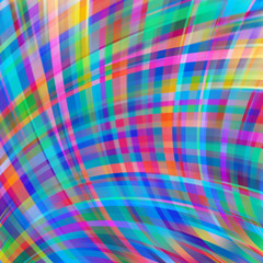Colorful smooth light lines background. Blue, pink, purple colors