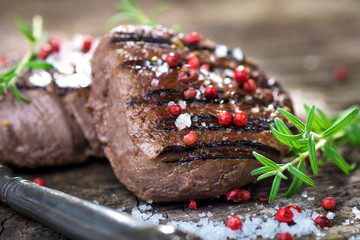Grilled beef  fillet steak
