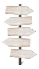 Wooden signpost concept