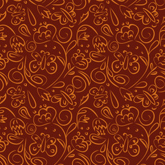 Seamless pattern with floral motifs