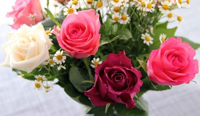 Bouquet de 4 roses