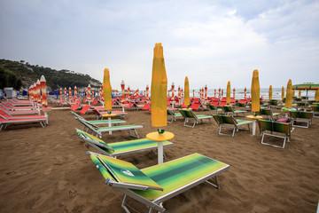 La spiaggia di Peschici, tempo variabile