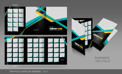 Professional trifold catalogue, brochure and flyer template for