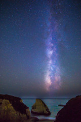 Milky Way over the Pacific ocean, California