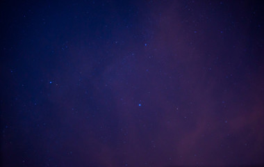 Amazing view of night sky full of stars and milky way