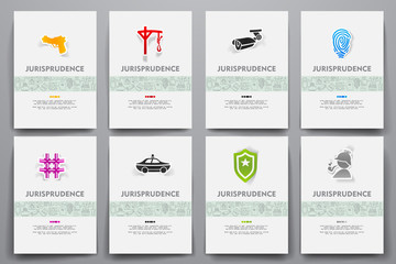 Corporate identity vector templates set with doodles