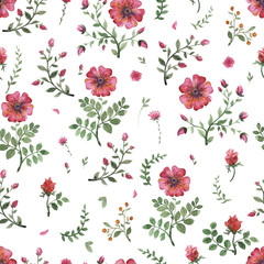flowers watercolor pattern