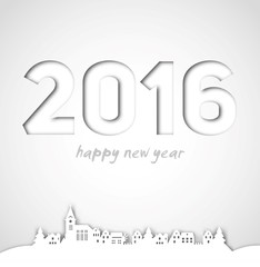 Merry Christmas, Happy new year, 2016, Vector Illustration
