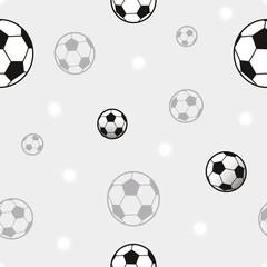Soccer ball seamless pattern illustration