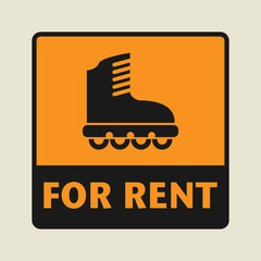 For Rent icon or sign