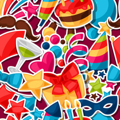 Carnival show and party seamless pattern with celebration