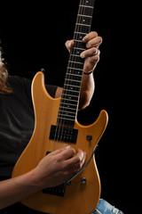 Guitar hero playing