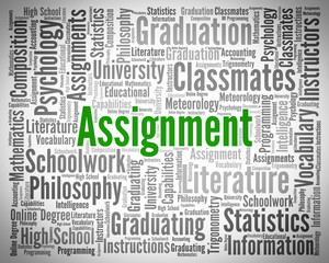 Assignment Word Shows Home Work And Exercises