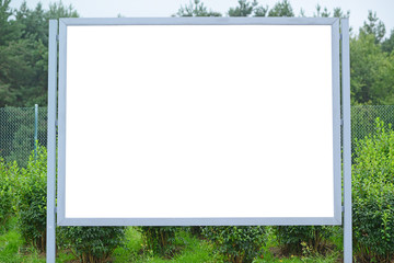 Blank billboard at parking