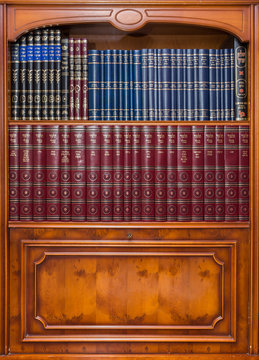 An old Jewish bookcase