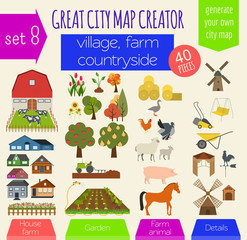 Great city map creator. House constructor. House, cafe, restaura