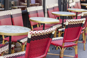 PARIS, FRANCE, on AUGUST 29, 2015. Picturesque summer cafe on the street.