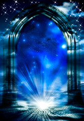 Wall Mural - gate with magic light