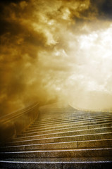 Wall Mural - Stairs to heaven