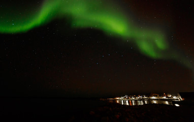 Greenland northern lights, nearby Nuuk, October 2015