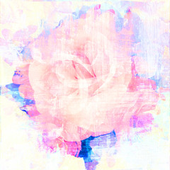 Rose art with fade abstract texture