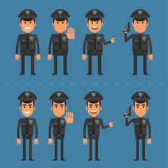Policeman in various poses