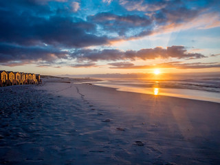Picturesque sunrise on False Bay beach in South Africa - 2