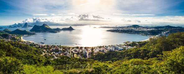 View of Rio de Janeiro and Guanabara Bay from the Cidade Park in Wall mural