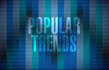 popular trends binary sign concept