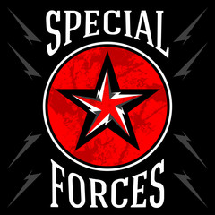 Special forces military emblem. Vector illustration