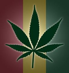Cannabis Leaf Flag