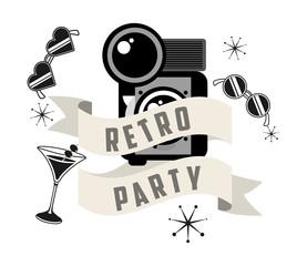 retro party  design