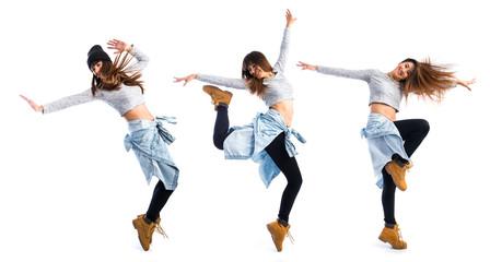 Girl dancing street dance