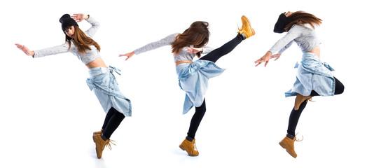 Urban dancer posing on studio